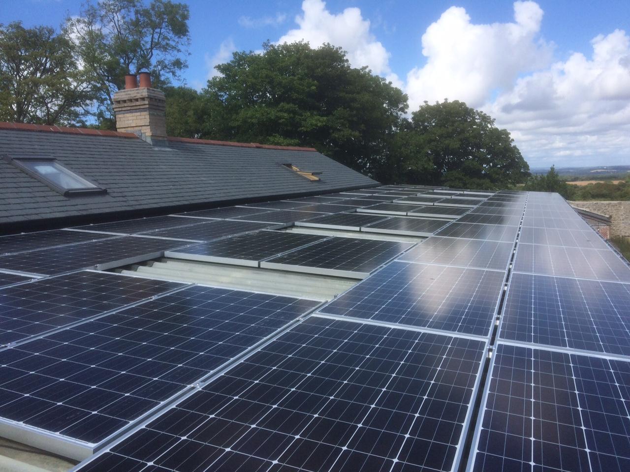 A solar PV system installed by GreenGenUK in Penryn