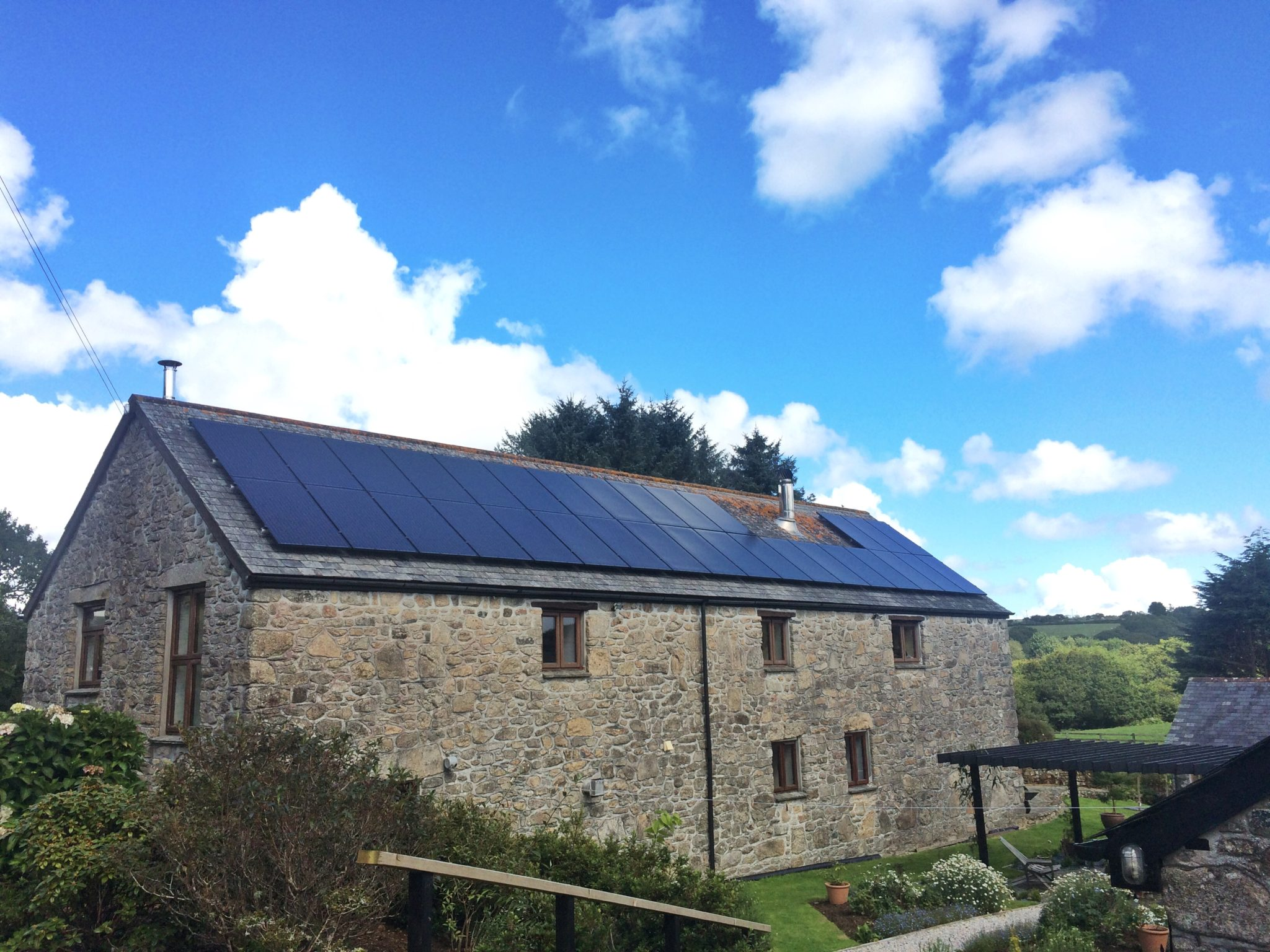 An 8kW Panasonic solar PV install in Bodmin