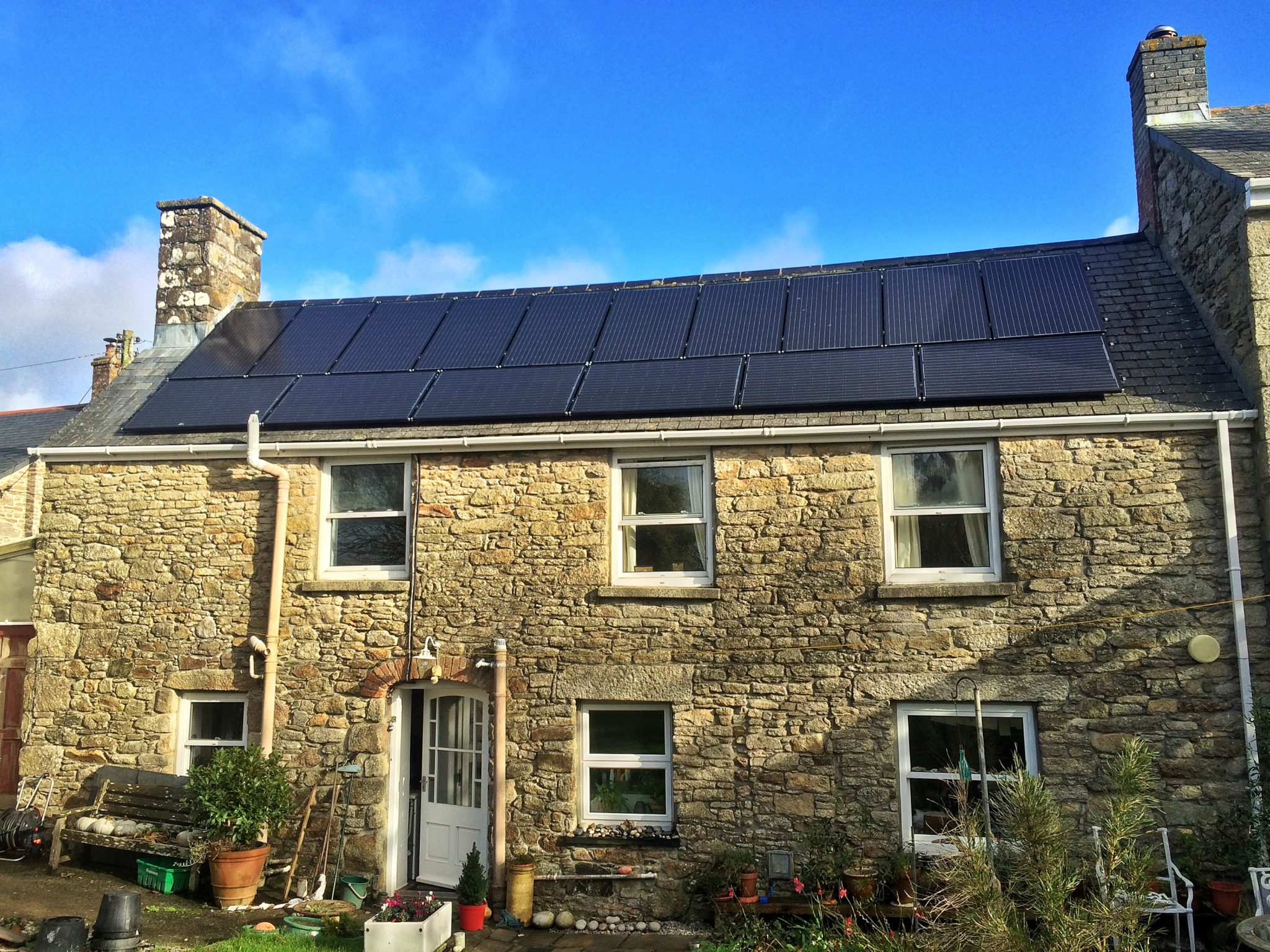 A 4kW SolarWorld solar PV installation in Breage, Cornwall