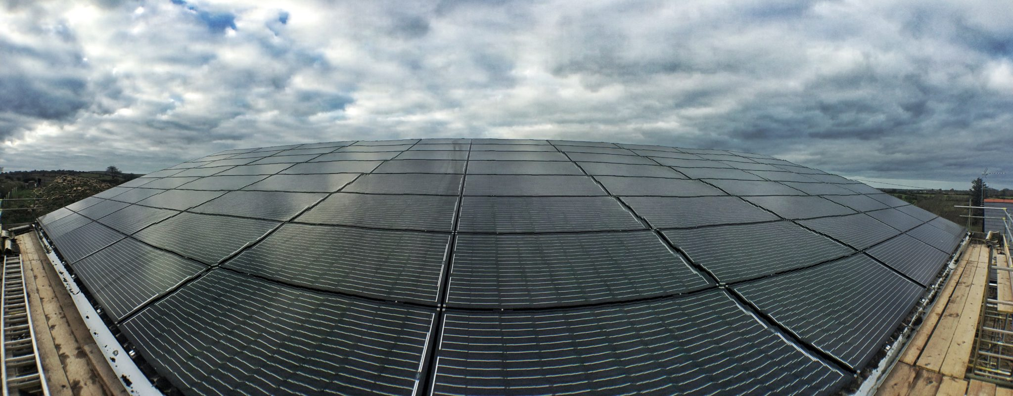 A 20kW barn-mounted solar PV array