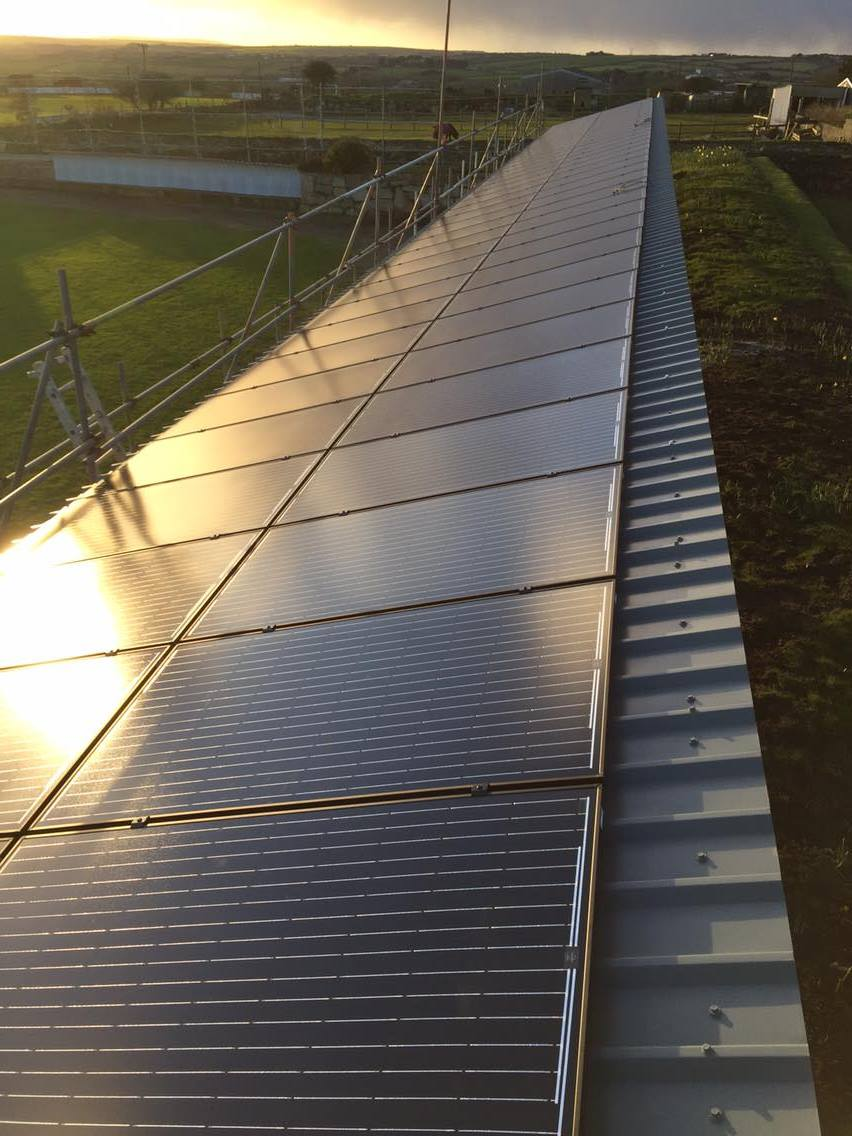 30kW Commercial Solar PV Installation for Wendron Cricket Club, Cornwall