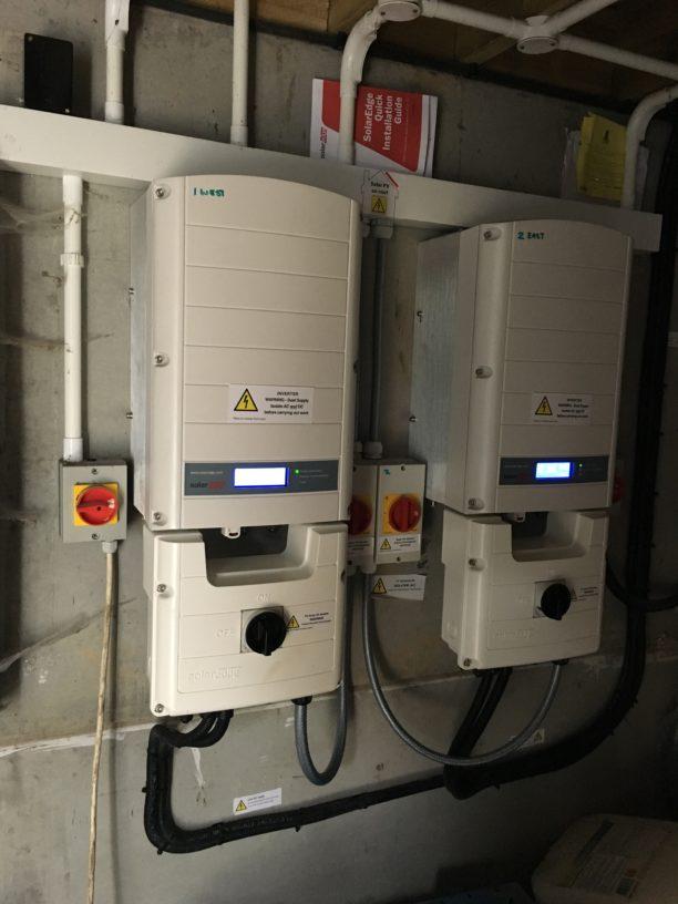 Two Solaredge 25,000 solar inverters