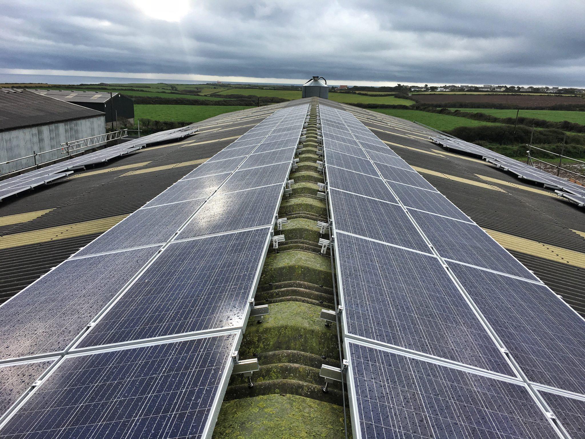 A 49.77kW solar PV array, The Lizard, Cornwall.