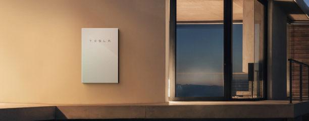 A Tesla Powerwall 2 unit installed internally