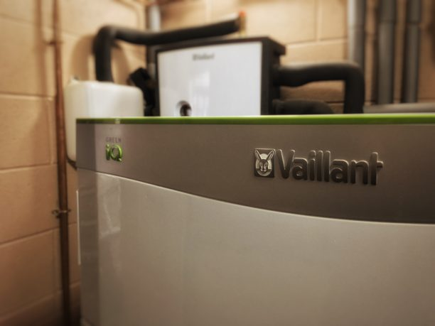 An example of Vaillant's 15kW ground source heat pumps, installed in Devon.