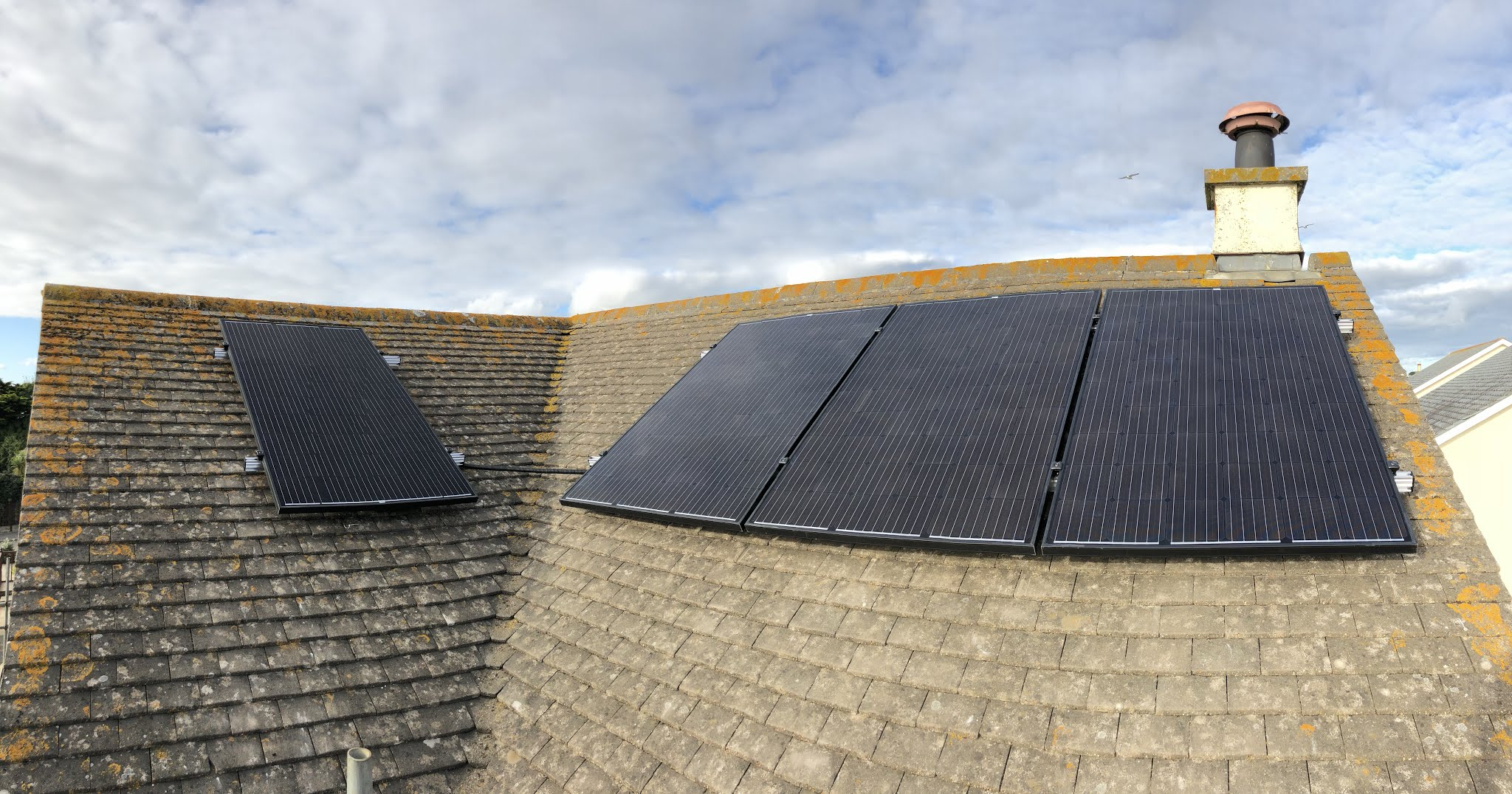 A smart solar PV installation in Mullion on a concrete tile roof,