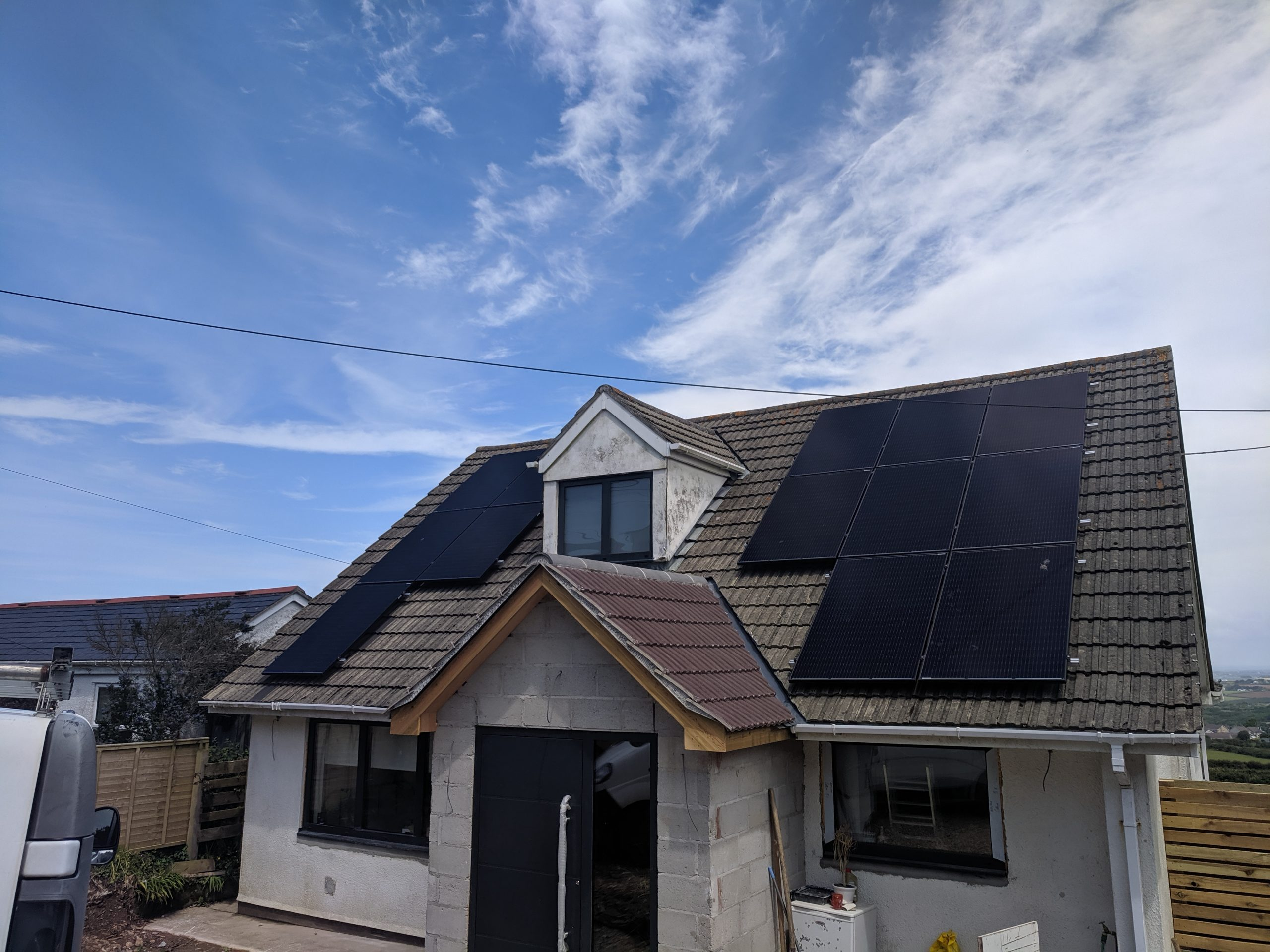 A 4.1kW SolarEdge smart solar PV installation in St. Agnes, Cornwall.