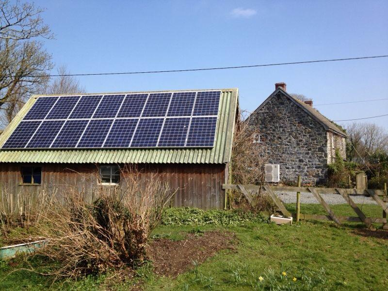 A combined solar PV and air source heat pump installation in Cornwall.