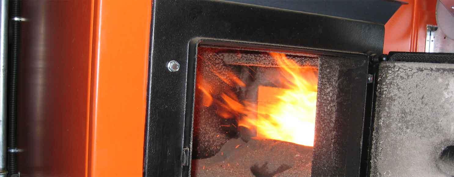 a biomass boiler in Cornwall