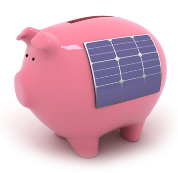 Piggy-bank highlighting the saving still to be made after the Feed-in Tariff cuts