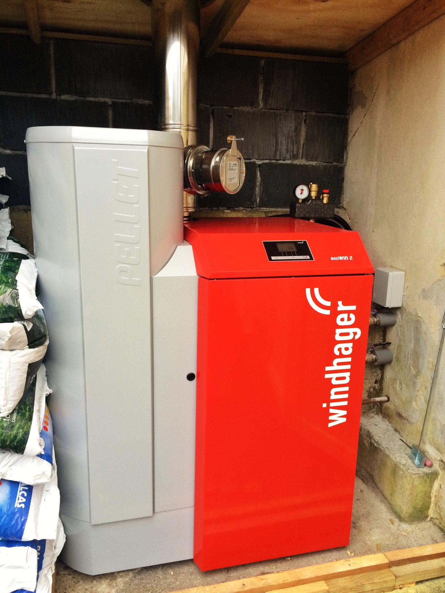 Biomass Boiler Domestic Install Feock Cornwallgreengenuk