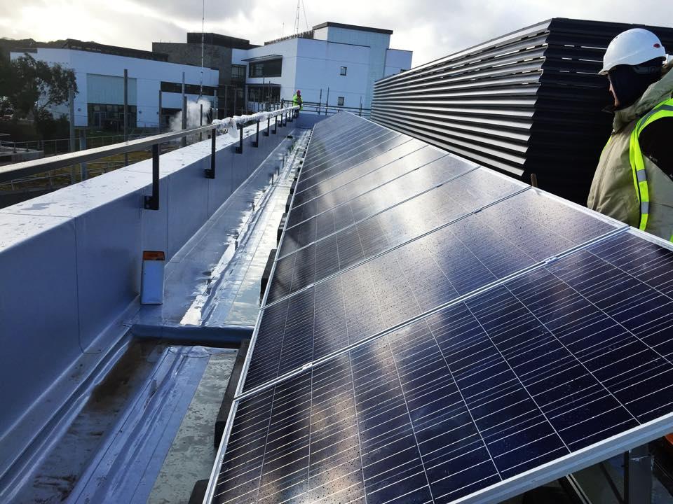 Solar Pv Installation At Tremough Campus Falmouth Greengenuk