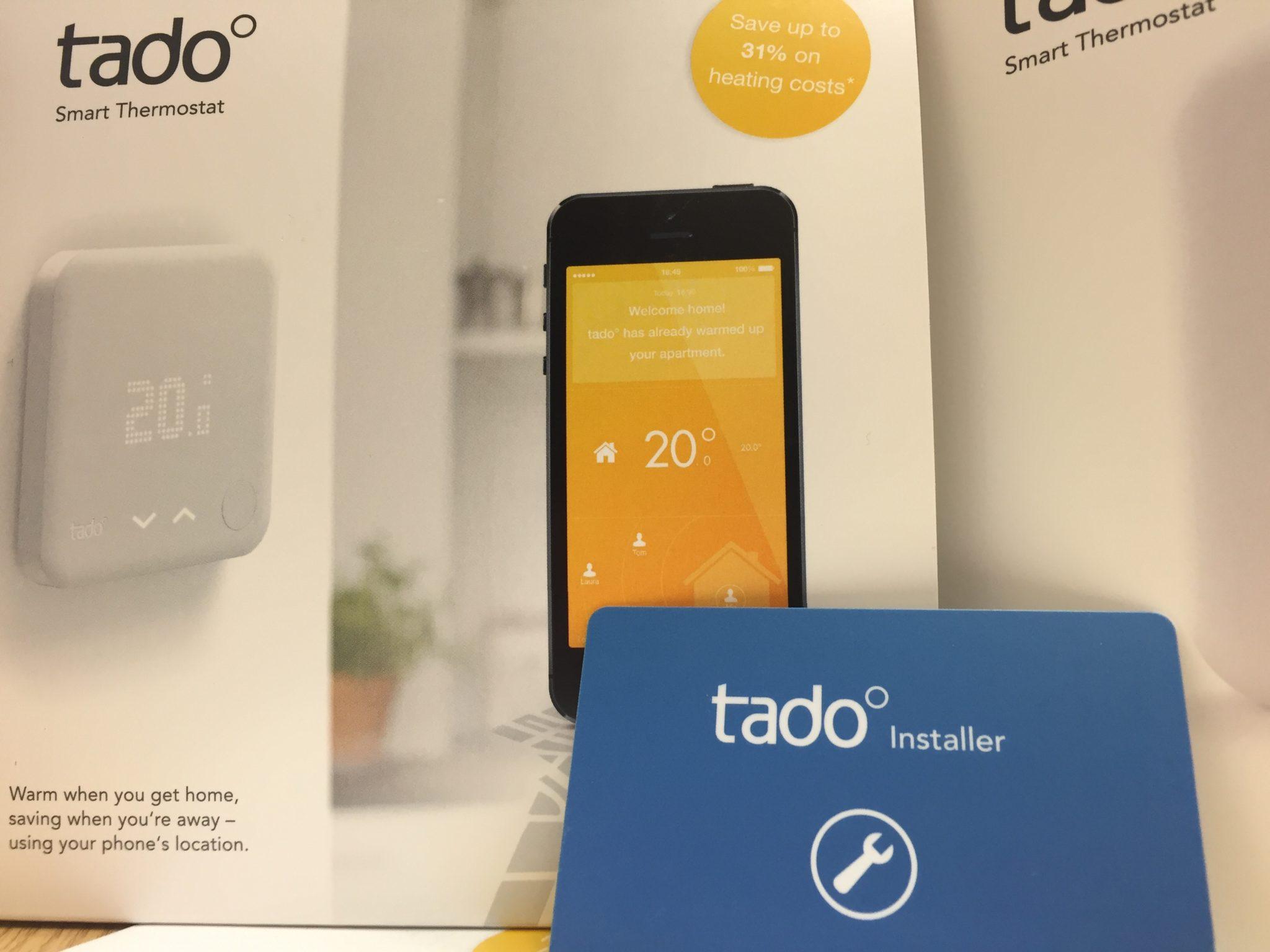 A tado° Smart Thermostat installation