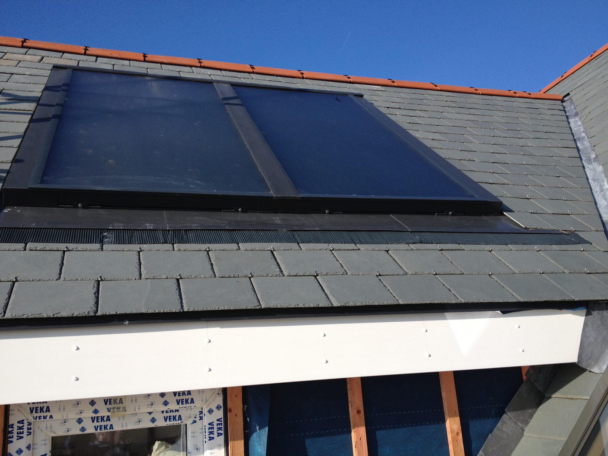 An image of GreenGenUK's solar thermal installation in Praa Sands.