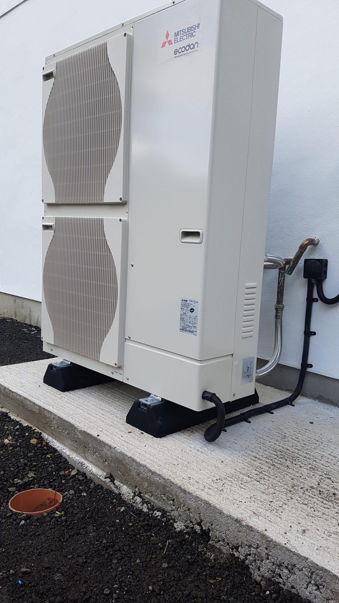 11 2kw Mitsubishi Ecodan Air Source Heat Pump Installation