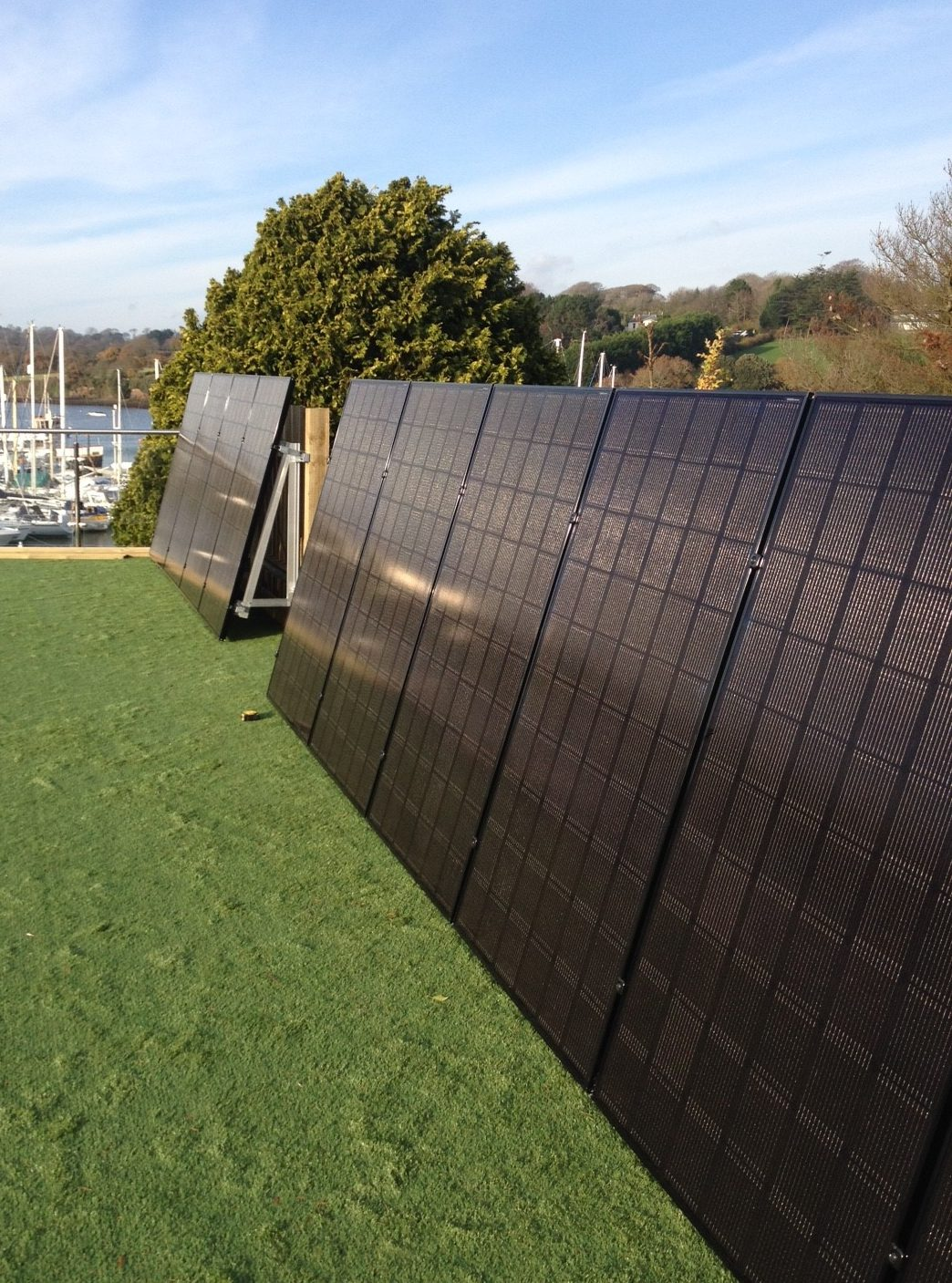 A 3.3kW LG solar PV array, consisted of 11 panels/