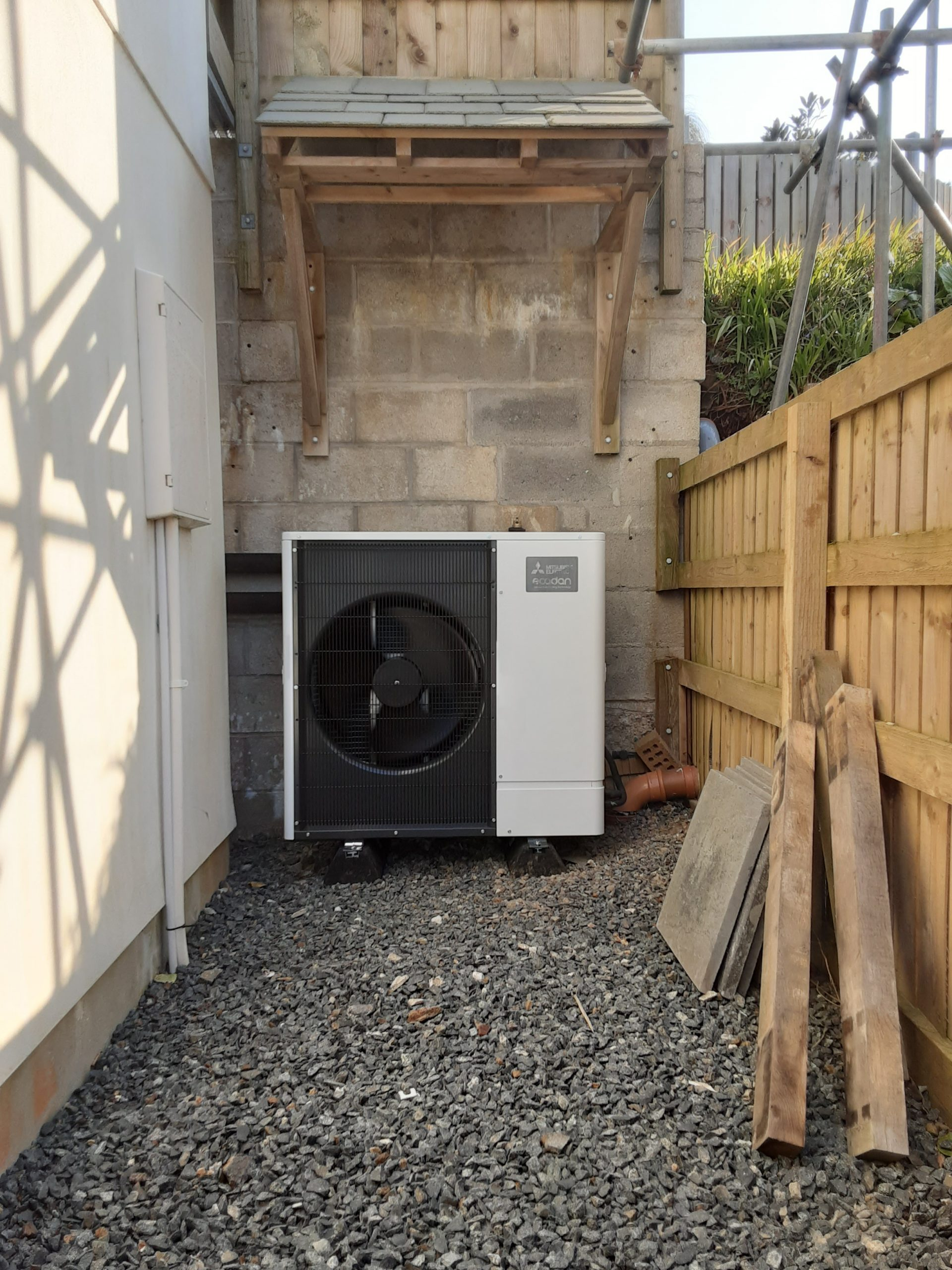 An Ultra Quiet Ecodan installation in Coverack, Cornwall.